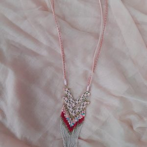 collar rosa palo