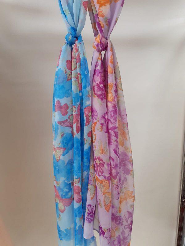 pañuelo estampado flores